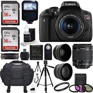 CanonEOSRebelT6iDSLRCMOSDigitalSLRCamerawithEF-S18-55mmf-3.5-5.6ISSTMLensBundle